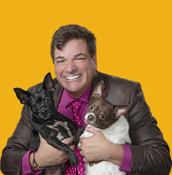 Dale Badway with Apollo and Finley