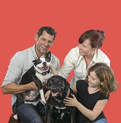 Darryl Feldman and Family SPCA Tampa Bay Ambassadors
