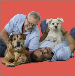 Frank Clemente and Toby Anderson and Alice and Lola Photo