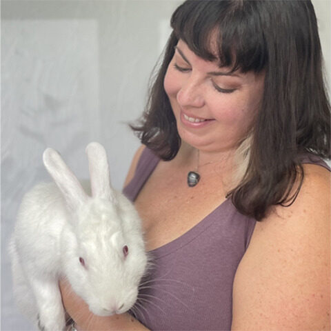 colleen with rabbit call out