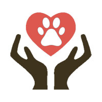 Heart Paw with hand holding the heart