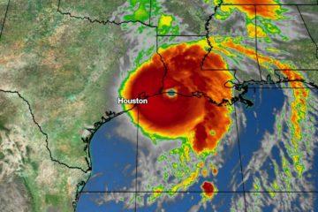Hurricane Map of Houston Texas