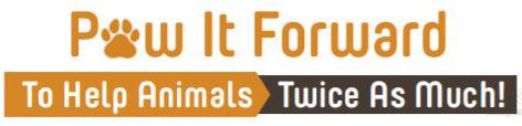 paw it forward logo graphic